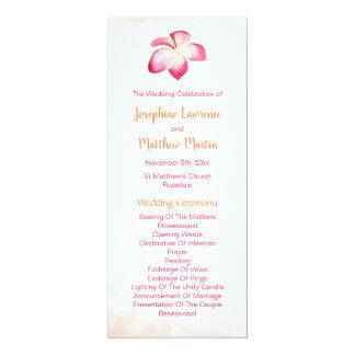 Sunset Plumeria Wedding Programs