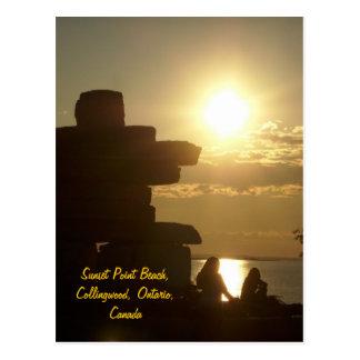 Sunset Point Beach, Collingwood, Onta... Postcard