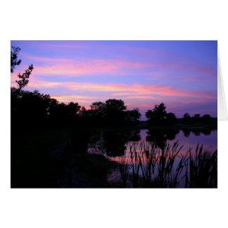 Sunset Pond Notecards Card