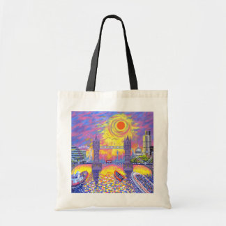 Sunset:Pool Of London 2013 Tote Bag