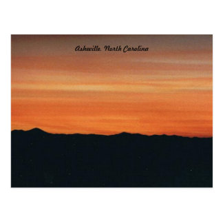Sunset Post Card, Asheville, North Carolina Postcard