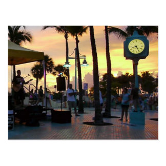 Sunset Postcard - Times Square Fort Myers Beach