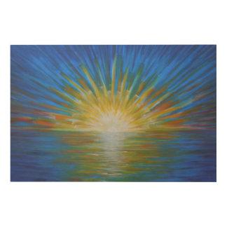 Sunset rainbows wood print