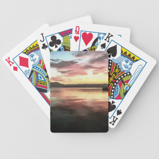 Sunset Reflected On Water Bicycle Playing Cards