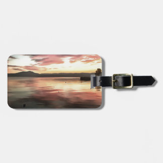 Sunset Reflected On Water Luggage Tag