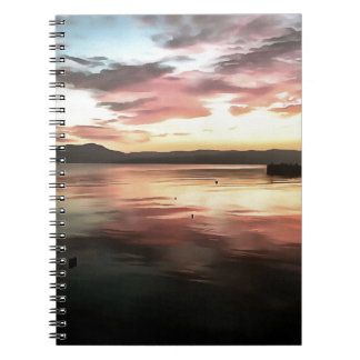 Sunset Reflected On Water Notebook