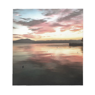 Sunset Reflected On Water Notepad