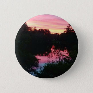 Sunset Reflections Before the Storm 2 Inch Round Button
