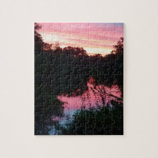 Sunset Reflections Before the Storm Jigsaw Puzzle