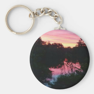 Sunset Reflections Before the Storm Keychain