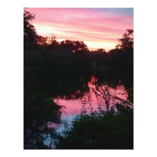 Sunset Reflections Before the Storm Letterhead