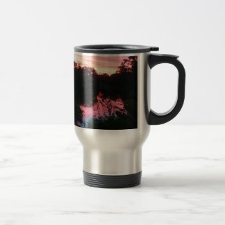 Sunset Reflections Before the Storm Travel Mug