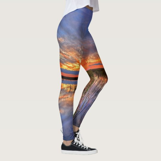 Sunset Reflections on Water Leggings