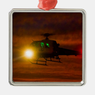 Sunset Rescue Metal Ornament