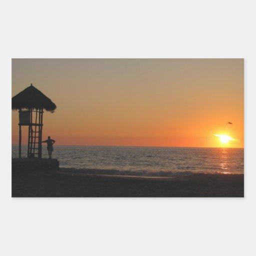 Sunset Resting Spot Rectangular Stickers