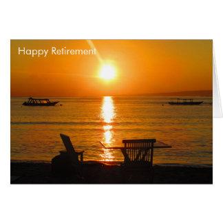 sunset retirement card