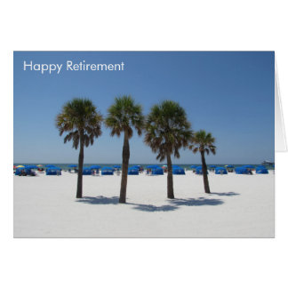 sunset retirement - clearwater beach florida card