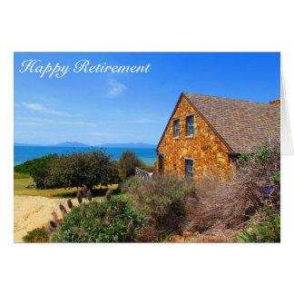 sunset retirement - coastal cottage card