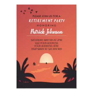 Sunset Retirement Party Invitation