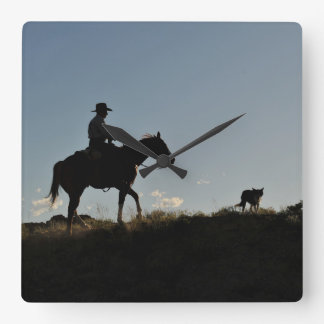 Sunset Ride Square Wall Clock