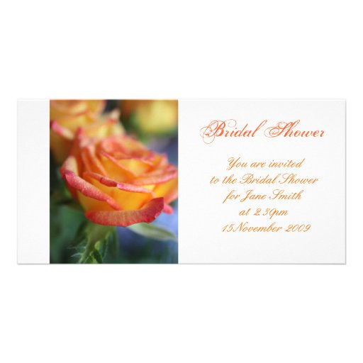 Sunset Rose - Bridal Shower Invitation Customized Photo Card