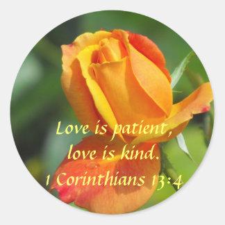 Sunset Rose - Love Classic Round Sticker