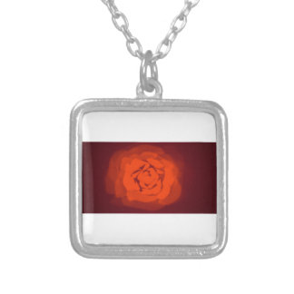 Sunset rose silver plated necklace