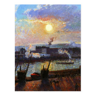 Sunset, Rouen by Camille Pissarro Postcard