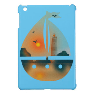 Sunset_sail boat cover for the iPad mini
