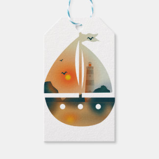 Sunset_sail boat pack of gift tags