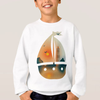 Sunset_sail boat sweatshirt