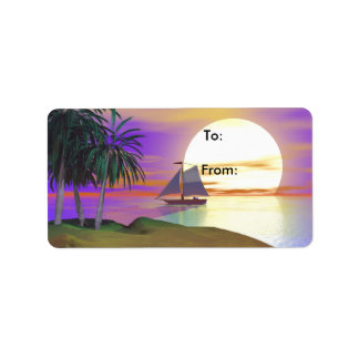 Sunset Sail Gift Tag