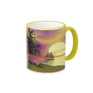 Sunset Sail Ringer Mug