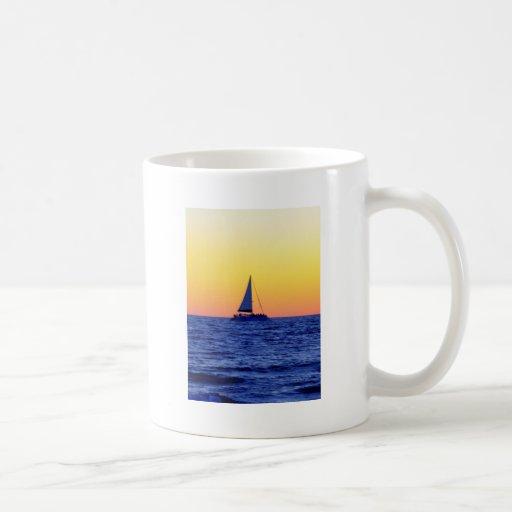 Sunset Sail Coffee Mugs