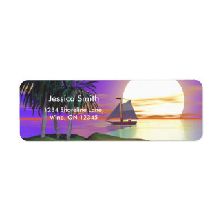 Sunset Sail Return Address Label