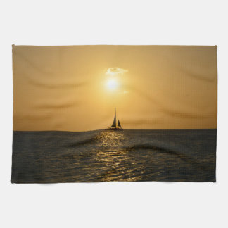 Sunset Sail Towel