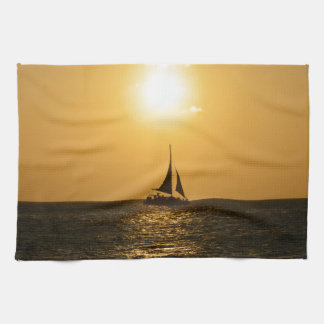 Sunset Sail Towels