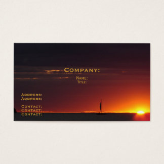 Sunset Sailboat Business Card