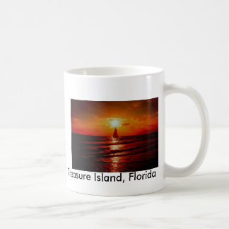 sunset sailboat, Treasure Island, Florida Coffee Mug