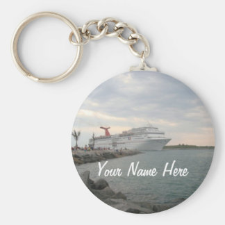 Sunset Sailing Pretty Personalized Keychain