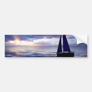 Sunset Sailing Sailboat Bumpersticker Bumper Sticker