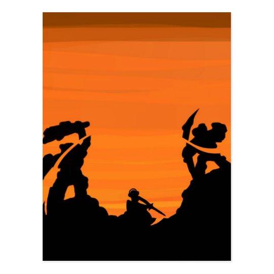 Sunset Samurai Postcard