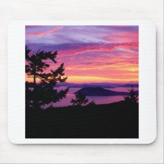 Sunset San Juan Islands At Puget Sound Mouse Pad