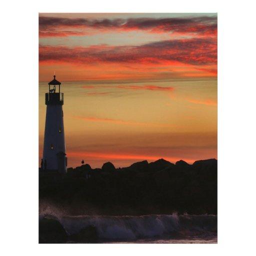 Sunset Santa Cruz Customized Letterhead