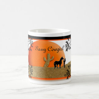 sunset, Sassy Cowgirl Magic Mug