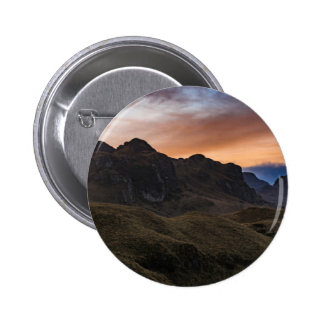 Sunset Scane at Cajas National Park in Cuenca Ecua 2 Inch Round Button