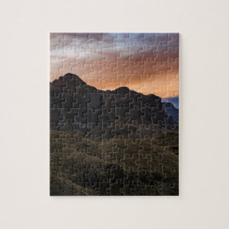 Sunset Scane at Cajas National Park in Cuenca Ecua Jigsaw Puzzle