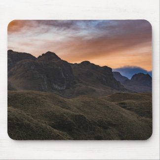 Sunset Scane at Cajas National Park in Cuenca Ecua Mouse Pad