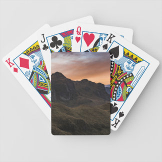 Sunset Scane at Cajas National Park in Cuenca Ecua Poker Deck