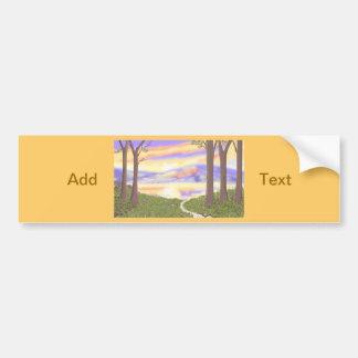 Sunset Scene cards Customize Product Car Bumper Sticker